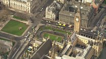 Aerial views of Houses of Parliament