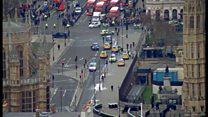 Quang cảnh ở Westminster sau vụ tấn công khủng bố