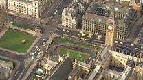 صور من الجو لموقع حادث البرلمان البريطاني