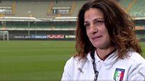 اٹلی کی انڈر 16 فٹبال ٹیم کی خاتون کوچ