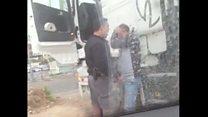 فلسطینی ٹرک ڈرائیور کی پٹائی