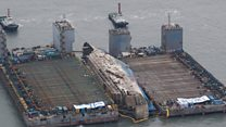 South Korea disaster ferry raised