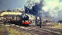 When first locomotive steamed down line