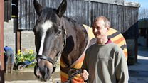Stable boy reunited with 'warrior racehorse'
