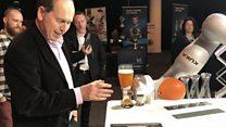 Robotic barman pours Rory a pint
