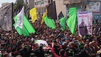 غزة: آلاف المشاركون في جنازة فقها يطالبون بالإنتقام من إسرائيل