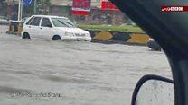 تیتر: آب گرفتگی خیابانها در بوشهر