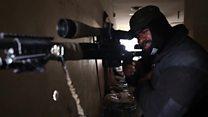 گزارش اختصاصی بی بی سی فارسی از تک تیراندازی های عراق در خط مقدم جنگ موصل