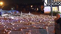 Video shows Merseyside blast aftermath