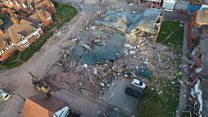 Drone video shows Liverpool blast zone