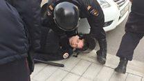 В Москве прошла несанкционированная антикоррупционная акция