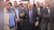 علي عبد الله صالح يظهر في صنعاء وسط أنصاره