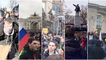 Акции протеста в России: от Владивостока до Санкт-Петербурга