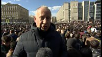 ロシアで反汚職デモ 野党指導者ら逮捕