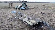 Кадри з місця катастрофи вертольота під Краматорськом