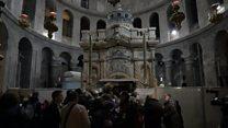 'யேசுநாதர் புதைக்கப்பட்ட' தேவாலயம் மீண்டும் திறக்கப்பட்டுள்ளது