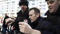 Навальный арестован на 15 суток за сопротивление полиции