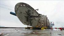 El increíble transporte de un naufragio de 6.000 toneladas que causó la peor tragedia marítima en Corea del Sur