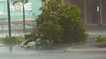 Footage shows 'monster' cyclone hitting