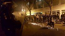 巴黎华人抗议 与警方发生暴力冲突