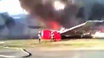 У Перу згорів літак. Пасажири евакуювалися вчасно