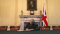 Inggris secara formal memulai proses Brexit