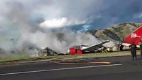 Peru Havayolları uçağı iniş sırasında kaza yaptı