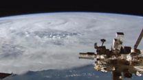 """Як циклон """"Деббі""""сприймався з космосу?"""