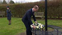 Prince William lays wreath to terror victim PC