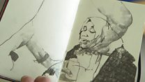 The artist who sketches refugees