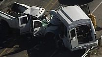 Twelve dead in church van crash