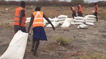 أمطار من الغذاء على جنوب السودان
