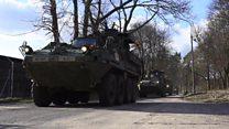 Натовская военная техника прибывает в Польшу