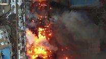 Huge fire engulfs Shanxi warehouse