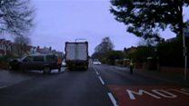 Land Rover flees family stabbing scene