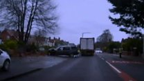Watch police pursue suspected killer