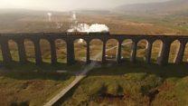 Flying Scotsman makes scenic journey