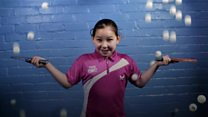 Table tennis star, 10, Wales' youngest