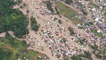 Colombia landslide leaves huge damage
