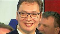 Сербія: прем'єр Вучич святкує перемогу на виборах