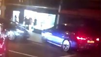 Car mounts pavement in 'TOWIE' brawl