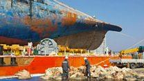 Examining the stricken Sewol ferry