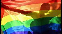 「虹色の旗」デザインの芸術家が死去 LGBTの象徴