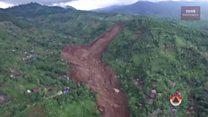 Rekaman video dari udara lokasi longsor di Ponorogo