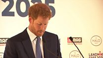 Prince Harry welcomes landmine clearance funding
