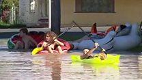 Dangerous games in Australia floods