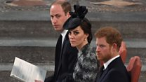Royals join relatives of London attack victims