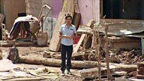 El corresponsal de BBC Mundo muestra la destrucción tras la tragedia de Mocoa en Colombia