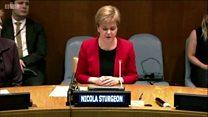 Sturgeon gives UN speech on gender quality