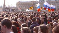 """Акция памяти в Москве: """"Мы все сплотились как один"""""""